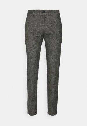 BLEECKER SOLID LOOK - Trousers - dark ash