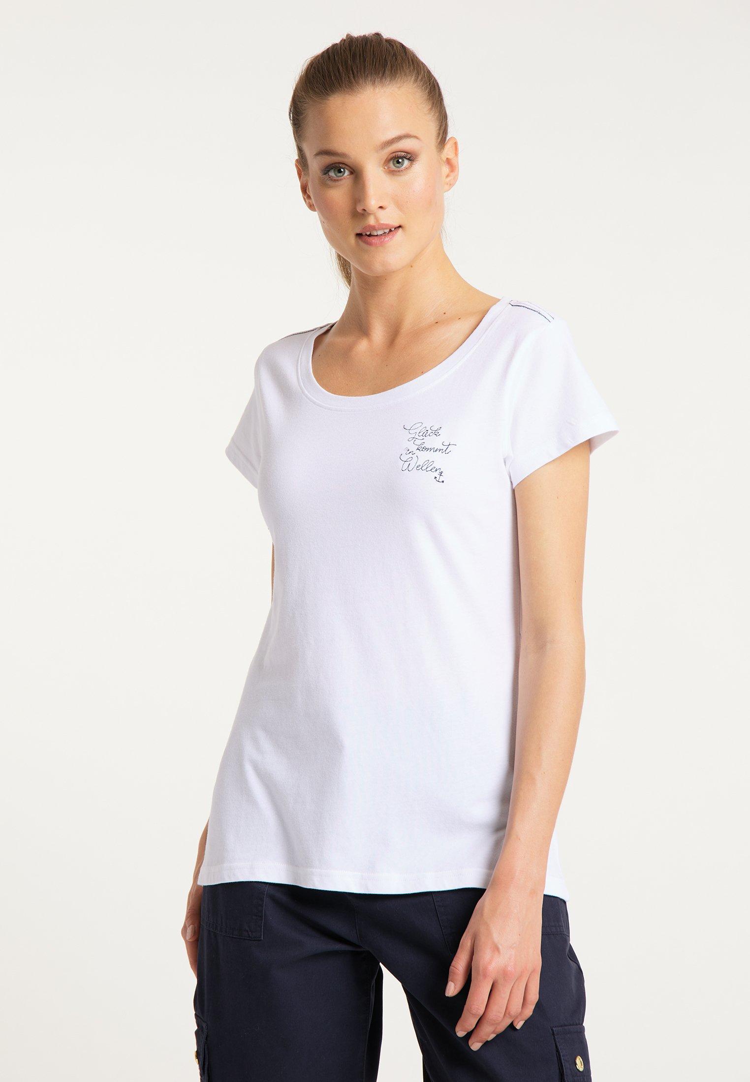Damen DREIMASTER T-SHIRT MIT STICKEREI - T-Shirt print
