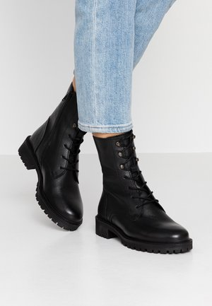 HOARA - Lace-up ankle boots - black