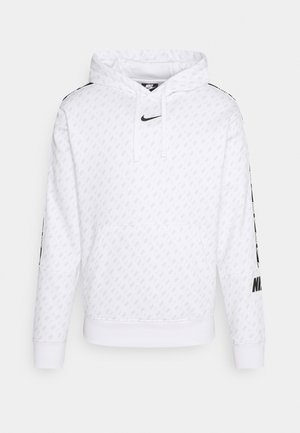 REPEAT HOOD - Sweatshirt - white/black