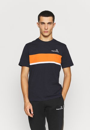 NEBON - Triko spotiskem - navy/orange
