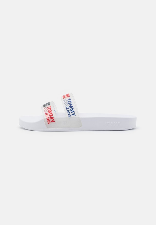 DOUBLE STRAP POOL SLIDE - Badslippers - white
