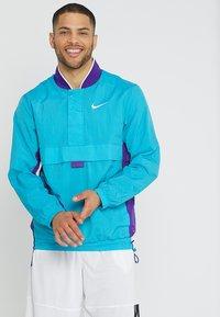 Nike Performance - RETRO - Windbreaker - rapid teal/field purple/white - 0