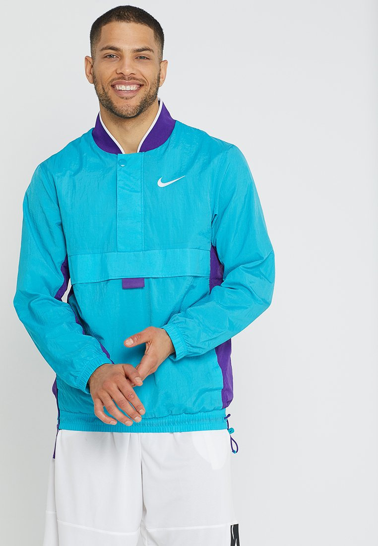 Nike Performance - RETRO - Cortaviento - rapid teal/field purple/white