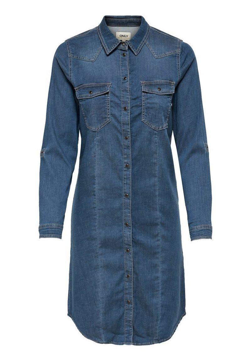 ONLY - Denim dress - medium blue denim