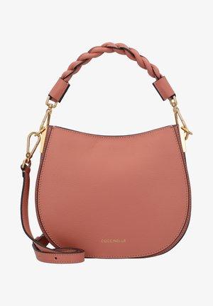 Handbag - litchi/powder pink