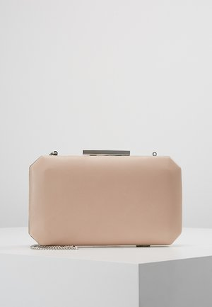 TARA GEO BOX - Clutch - nude