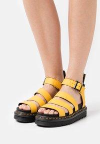 Dr. Martens - BLAIRE - Platform sandals - yellow hydro - 0