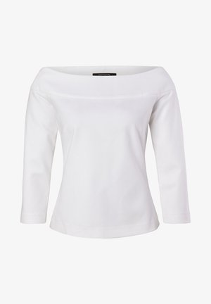 MIT CARMENAUSSCHNITT - Maglietta a manica lunga - white