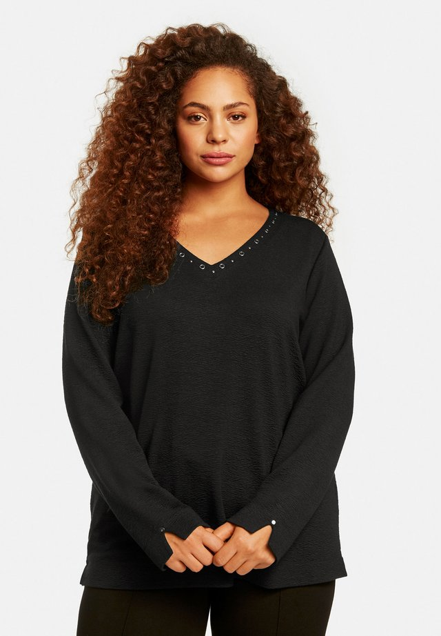 MIT NIETEN - Long sleeved top - black
