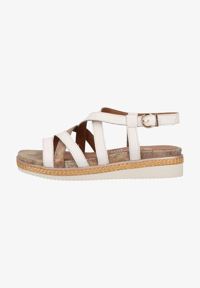 Sandalen met plateauzool - bianco/antique