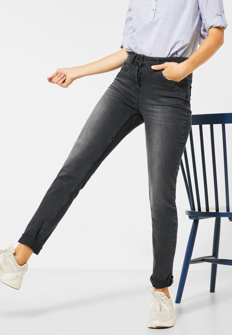Cecil - Straight leg jeans - schwarz