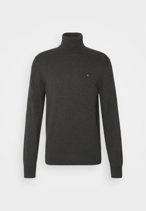 PIMA ROLL NECK - Neule - charcoal heather