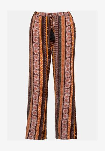 GROSSE GRÖSSEN  - Trousers - melone-schwarz