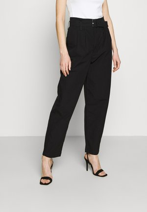 TAILOR HIGH LOOSE TAPER - Broek - soft structure caviar