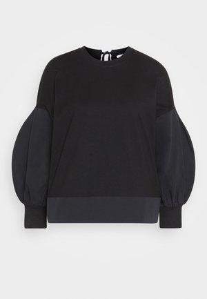 BLOUSON SLEEVE TOP - Long sleeved top - black
