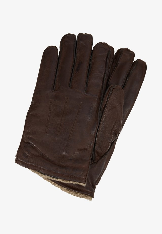 GLOVES - Gloves - brandy