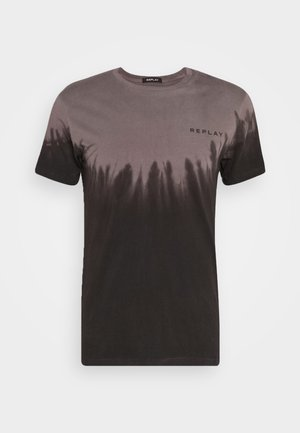 Print T-shirt - light mud