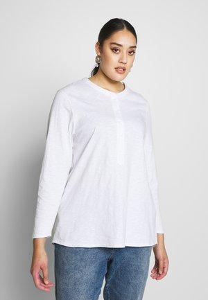 WHITE SLUB TEE - Top sdlouhým rukávem - white