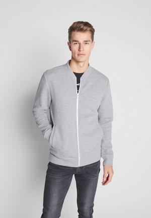 JPRSTEVIE SWEAT ZIP CARDIGAN - Zip-up hoodie - grey melange/melange
