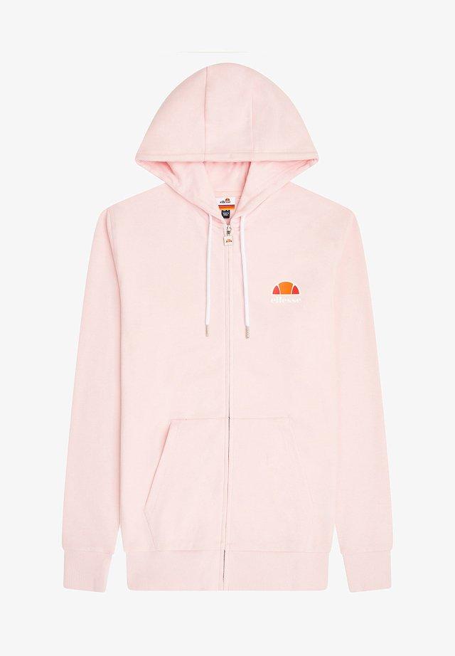 Zip-up hoodie - rosa