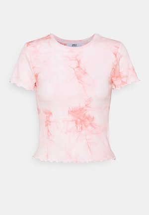 ONLPOPPY TYE DYE - Print T-shirt - cloud dancer/pink