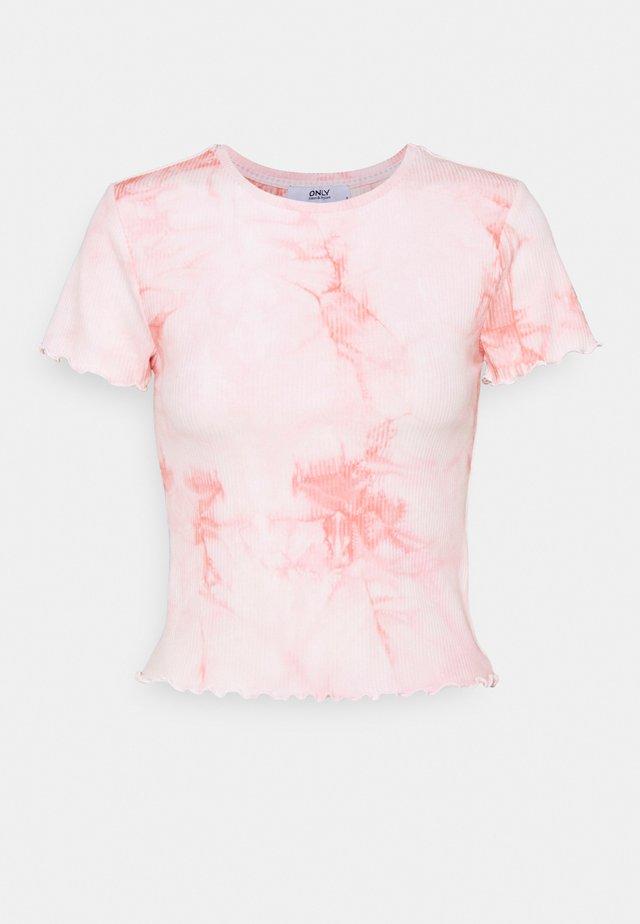ONLPOPPY TYE DYE - T-shirts print - cloud dancer/pink