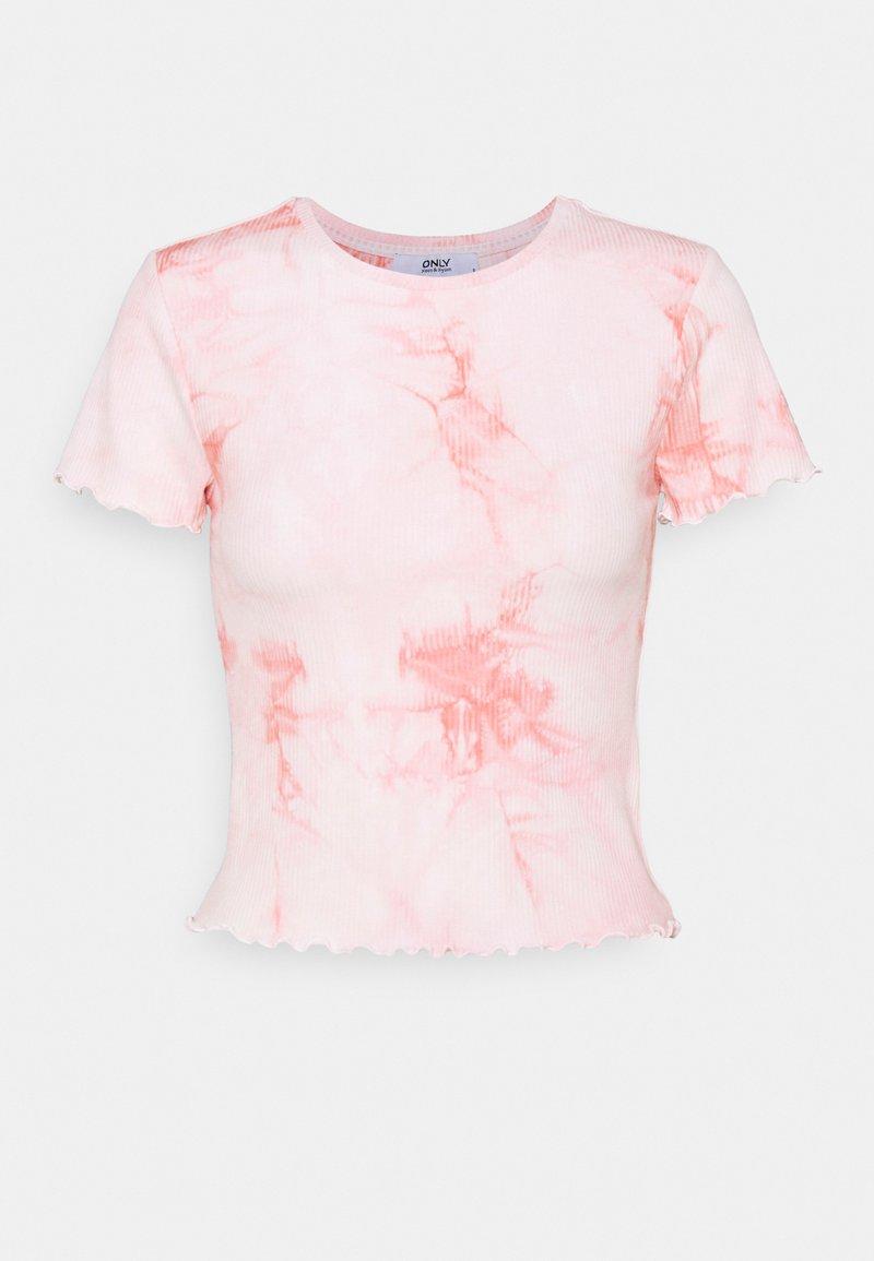 ONLY - ONLPOPPY TYE DYE - Print T-shirt - cloud dancer/pink