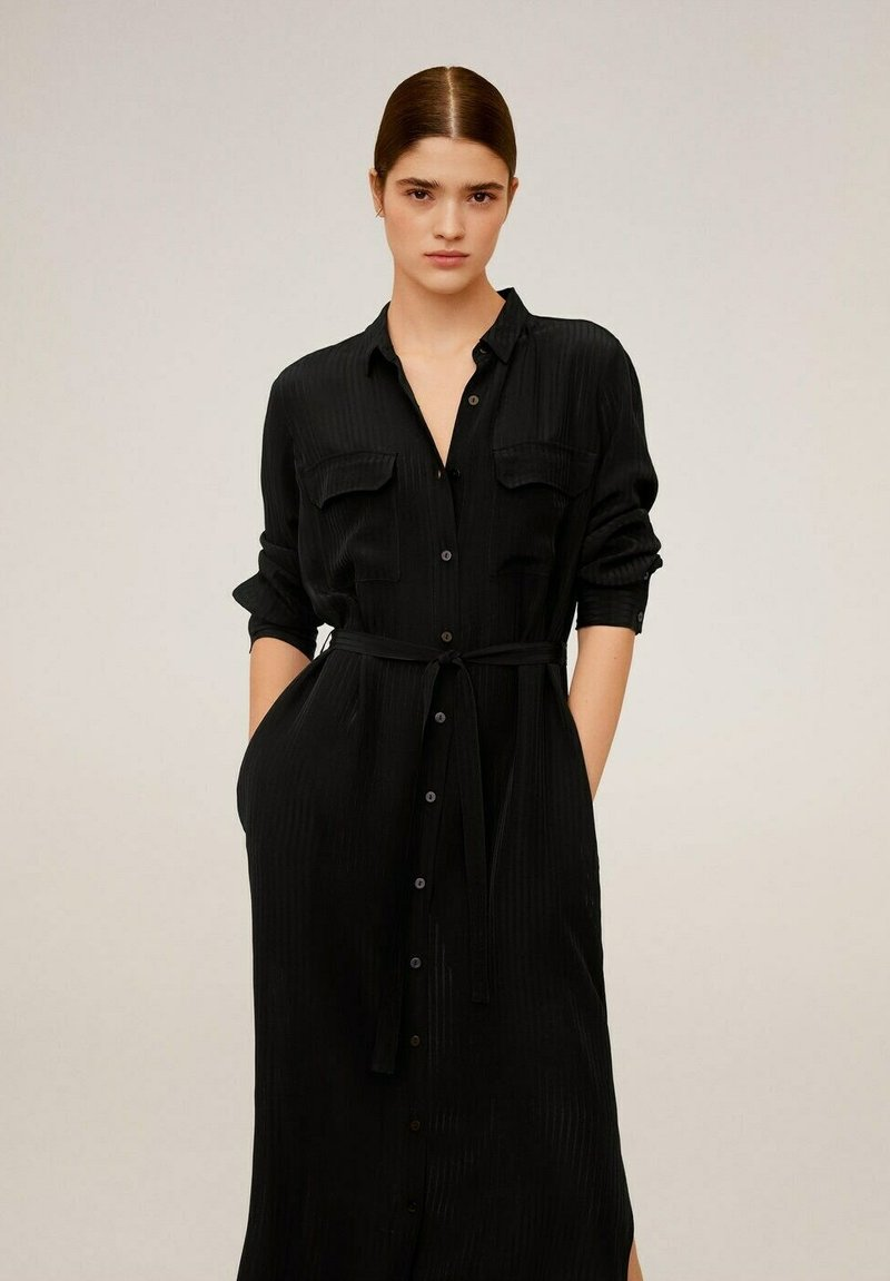 Mango - NINGBOX-I - Shirt dress - black