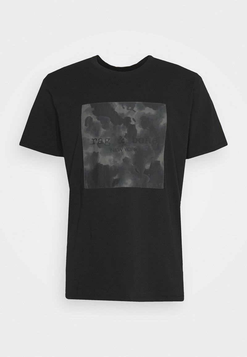 rag & bone - CAMO BOX TEE - T-shirt imprimé - black