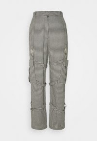 The Ragged Priest - HOUNDSTOOTH COMBATS STRAPPED POCKETS - Pantalones - black/white - 0