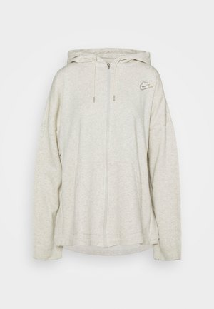 HOODIE EARTH DAY - Zip-up hoodie - oatmeal heather/light bone/white