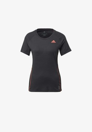 ADI RUNNER TEE - Print T-shirt - Black