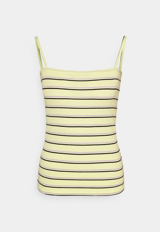 SPAGHETTI STRAP - Top - wax yellow