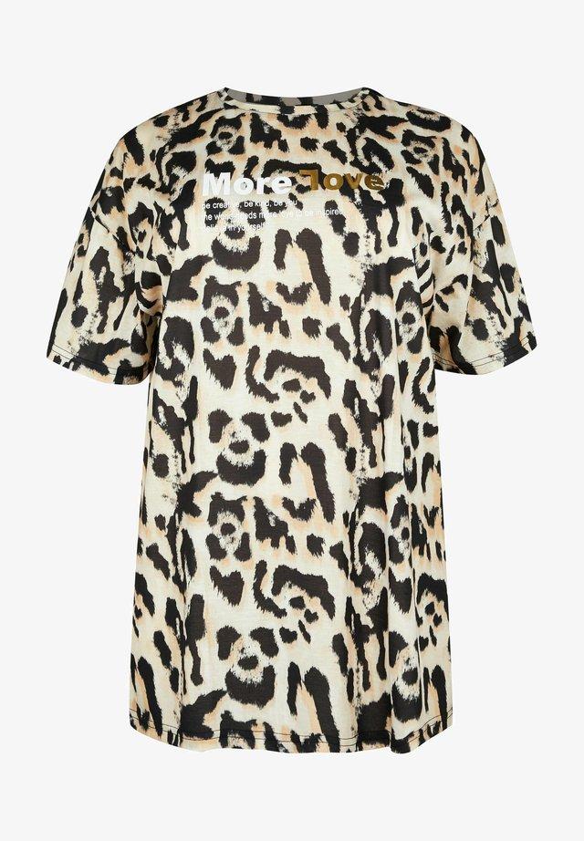 T-shirt print - brown