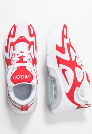AIR MAX - Sneakers basse - white/university red/metallic silver