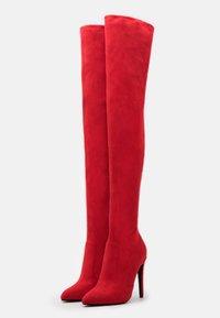 Buffalo - MARJORIE - High heeled boots - red - 2