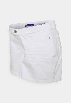 OLLIE - Jeansshort - white