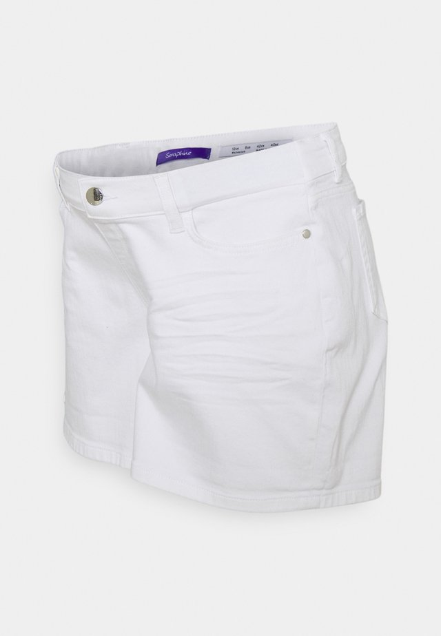 OLLIE - Short en jean - white