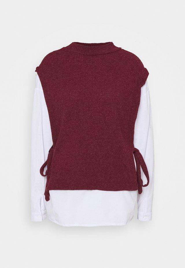 Pullover - burgundy
