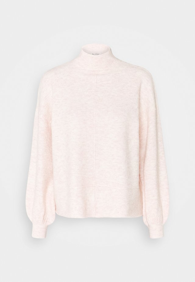 MISS ECO RECYCLED FUNNEL NECK - Strickpullover - soft pink