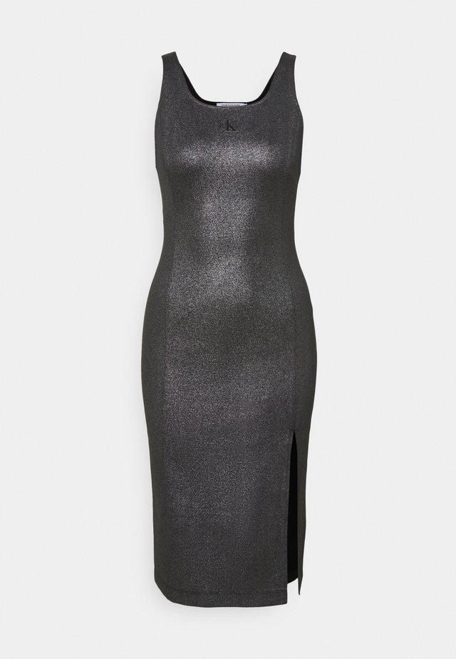 SQUARE NECK  MILANO DRESS - Jersey dress - black