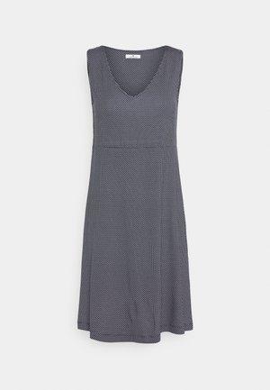 DRESS EASY SHAPE - Vestido ligero - navy/white