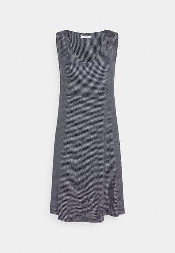 DRESS EASY SHAPE - Jersey dress - navy/white