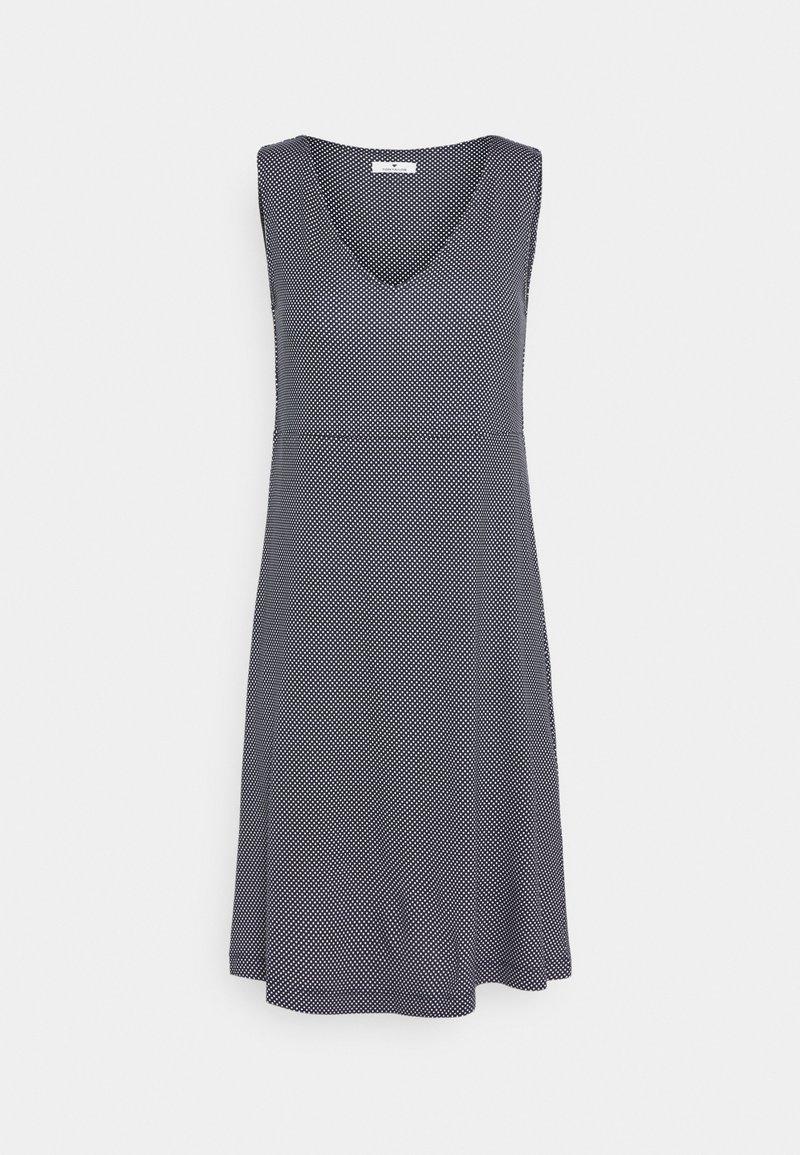 TOM TAILOR - DRESS EASY SHAPE - Jersey dress - navy/white
