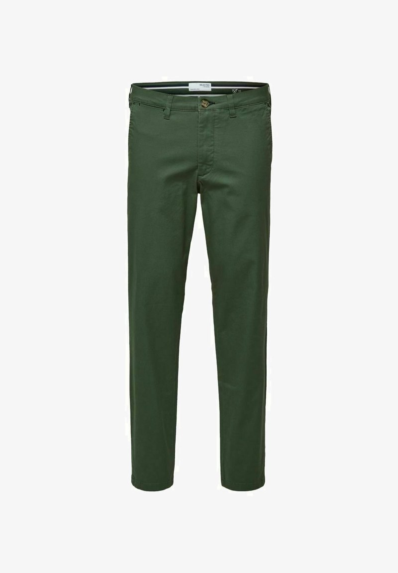 Selected Homme - SLHSLIM MILES FLEX PANTS - Chinos - bronze green