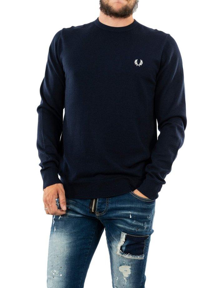 Stickad tröja - bleu