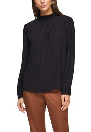 MIT CHIFFON-BLENDE - Long sleeved top - black