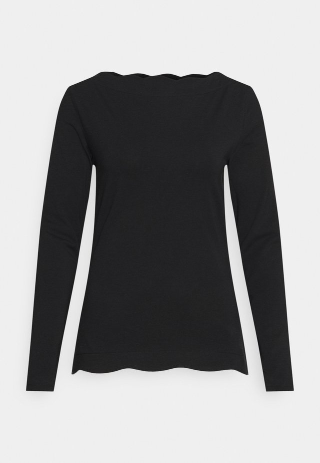 SCALLOP - Longsleeve - black