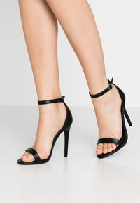 Missguided - BASIC BARELY THERE - Sandalias de tacón - black - 0